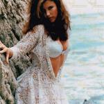 Jewel Shepard on a Cliffside